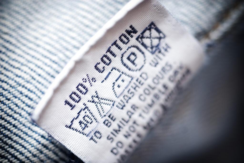 Etiqueta de algodão